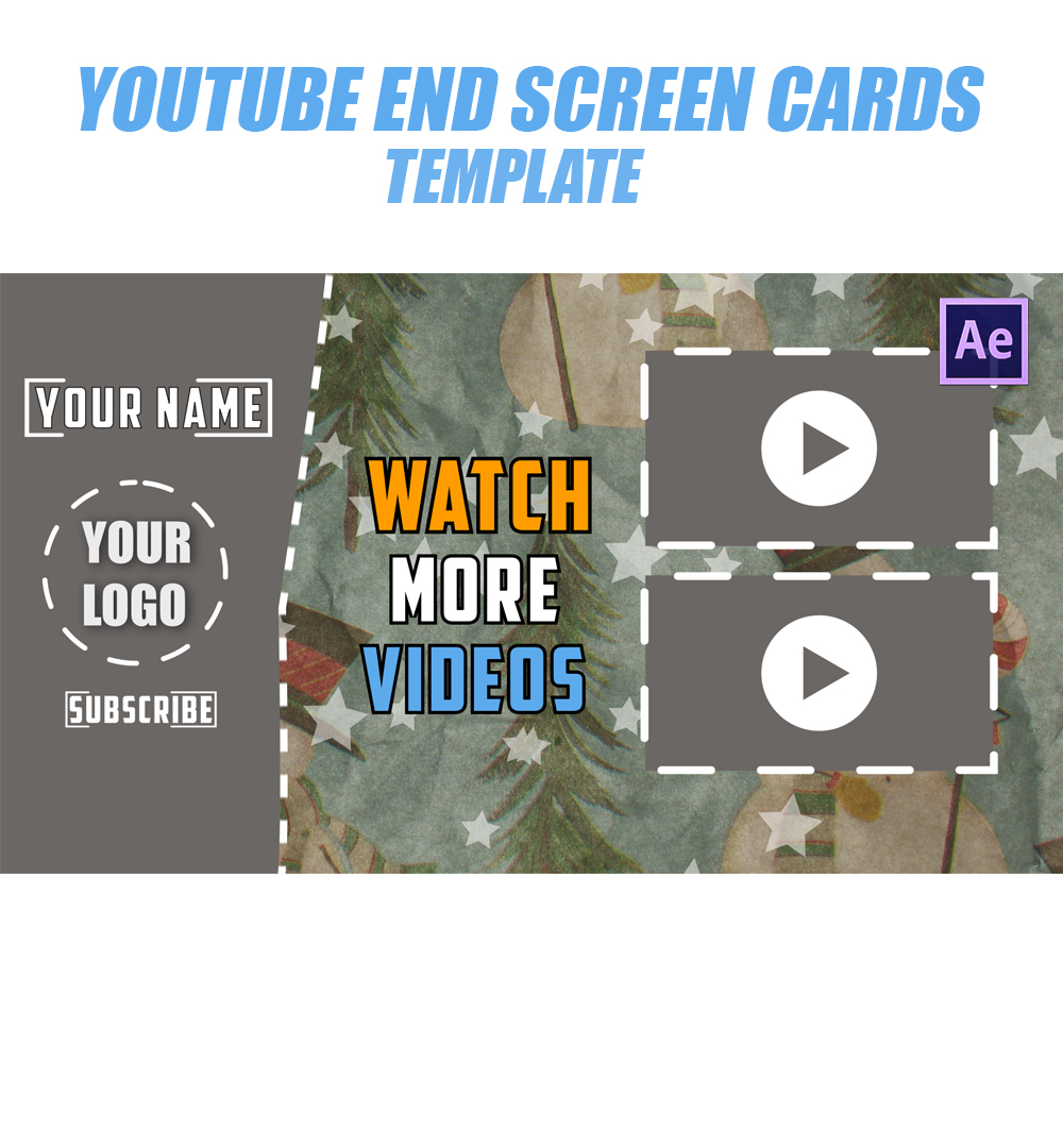 YouTube Endscreen Template After Effects Project File - After effects list template