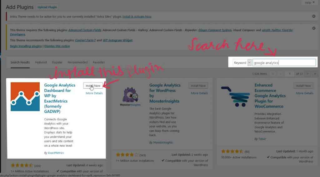 Google Analytics WordPress plugin